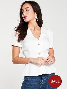 river-island-river-island-button-front-tea-blouse--white