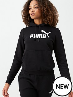 puma-essentials-logo-hoodie-black