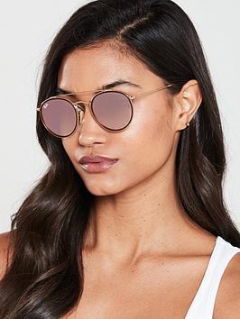 ray-ban-round-sunglasses-gold