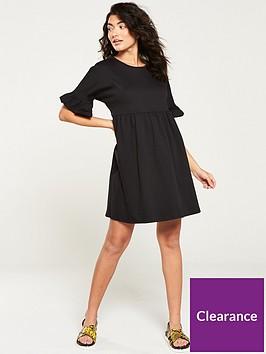 v-by-very-frill-sleeve-mini-dress-black