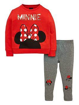 minnie-mouse-girls-sweat-and-legging-set-greyred