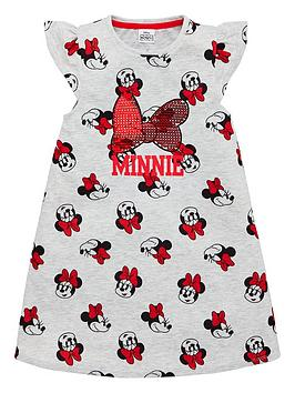 minnie-mouse-girlsnbspsequin-bow-nightie-greyred