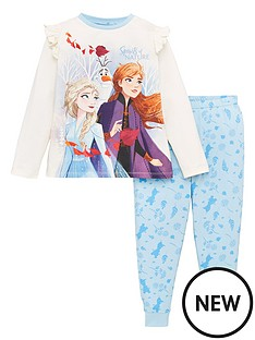 disney-frozen-2-girls-anna-and-elsa-jersey-pyjamas-multi