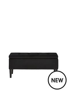 velvet-storage-bench