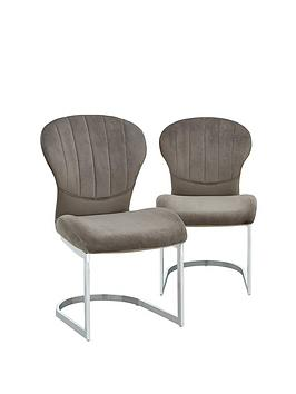 Very Pair Of Layla Velvet Dining Chairs Picture
