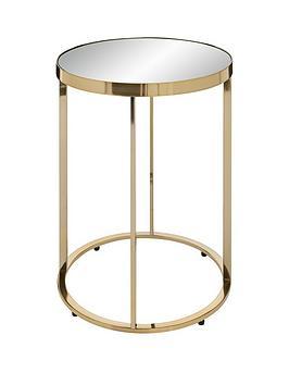 Gabriella Mirrored Lamp Table - Gold