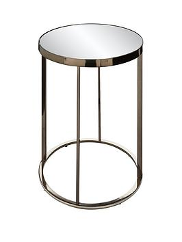 Very Gabriella Mirrored Lamp Table - Nickel Picture