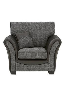 Very  Austin Fabric And Faux Snakeskin Armchair