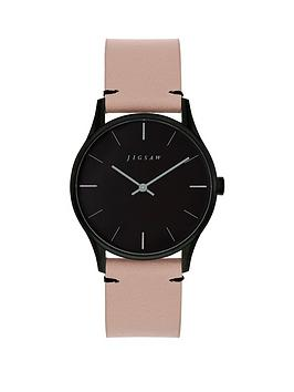 Jigsaw Jigsaw Jigsaw Black And Grey Detail Dial Pink Leather Strap Ladies  ... Picture