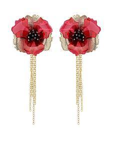 karen-millen-karen-millen-camellia-flower-drop-earrings