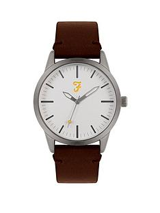farah-farah-white-dial-brown-leather-strap-mens-watch