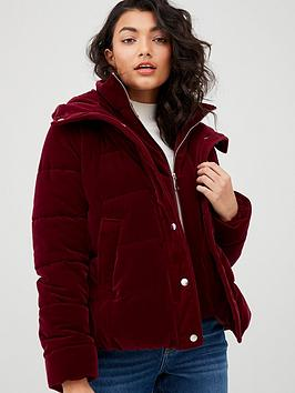 v-by-very-short-velvet-coat-plumnbsp