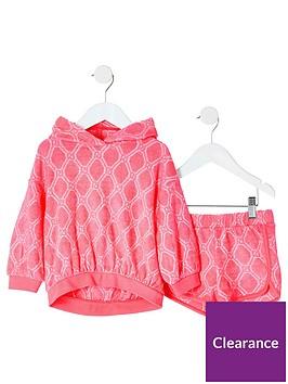 river-island-mini-mini-grls-ri-towelling-short-outfit-pink