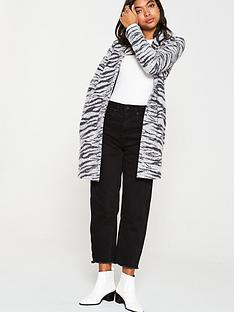 v-by-very-zebra-print-knitted-coatigannbsp--grey