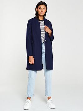 v-by-very-notch-collar-unlined-coat-navy