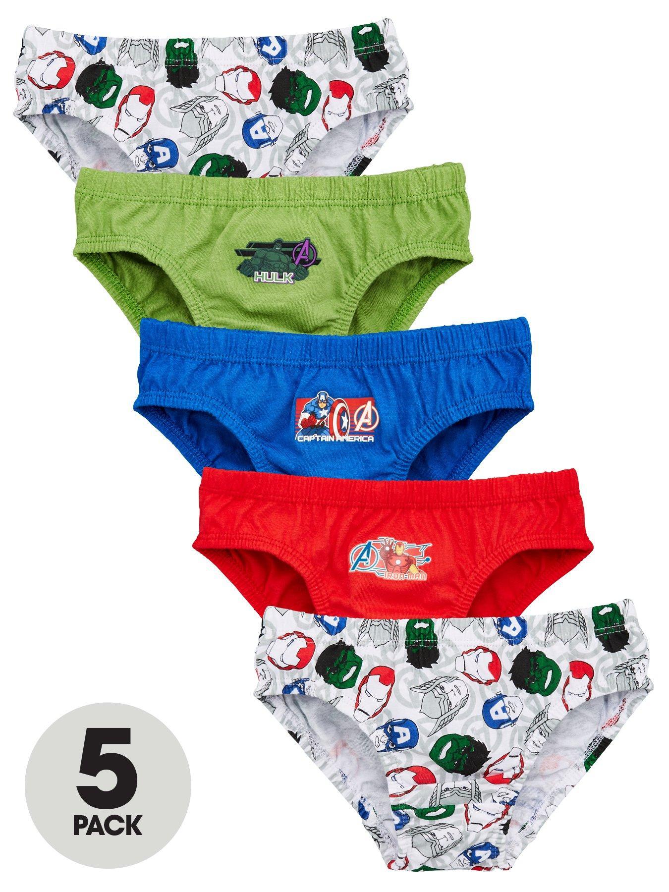 Marvel Avengers Assemble Boys 8 Pack of Briefs Underwear