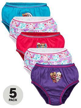 lol-surprise-girls-5-pack-knickers-multi