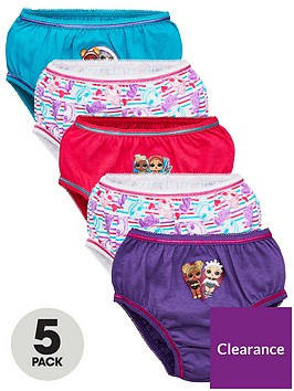 lol-surprise-girls-5-pack-knickers-multi