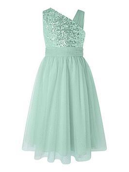 monsoon-girls-nadia-1-shoulder-dress-green