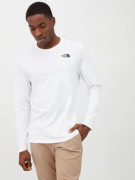 the-north-face-long-sleeve-easy-t-shirt-white