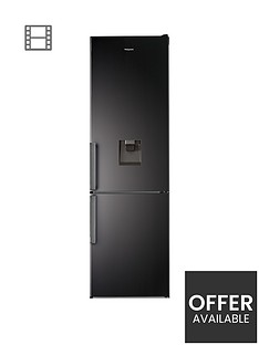 hotpoint-day1-h7t911akshaqua1-60cmnbspwide-total-no-frost-fridge-freezer-with-water-dispenser-black