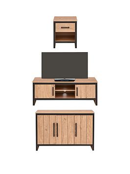 Very Boston 3 Piece Package - Tv Unit, Sideboard And Lamp Table Picture