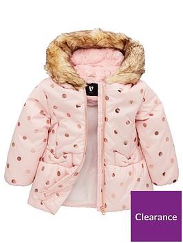 v-by-very-girls-rose-gold-spot-coat-pink