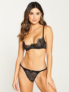 playboy-by-coco-de-mer-gilded-heart-thong-black