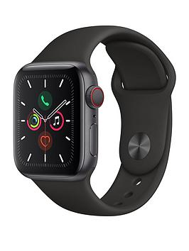 Apple   Watch Series 5 (Gps + Cellular), 40Mm Space Grey Aluminium Case With Black Sport Band