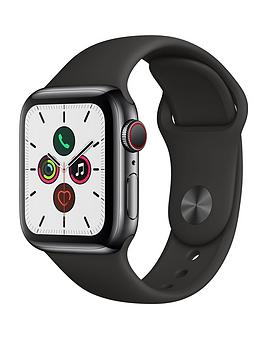 Apple   Watch Series 5 (Gps + Cellular), 40Mm Space Black Stainless Steel Case With Black Sport Band