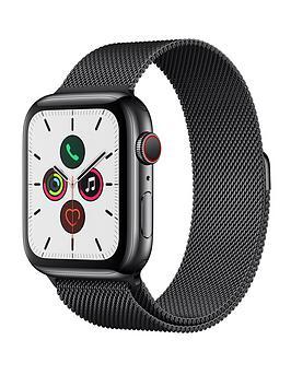 Apple   Watch Series 5 (Gps + Cellular), 44Mm Space Black Stainless Steel Case With Space Black Milanese Loop