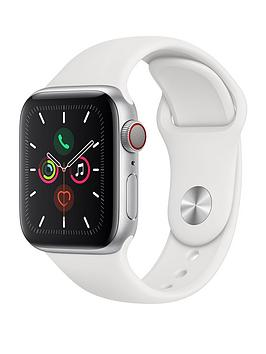 Apple   Watch Series 5 (Gps + Cellular), 40Mm Silver Aluminium Case With White Sport Band