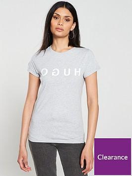 hugo-denna-logo-t-shirt-grey