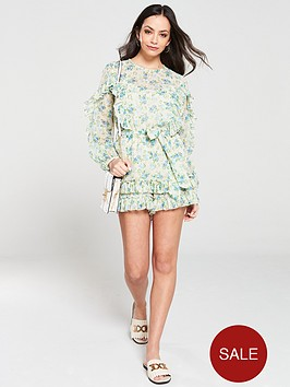 river-island-river-island-printed-ruffle-playsuit-green