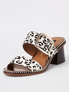 river-island-river-island-printed-block-heel-mule-sandal