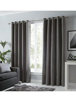 Fusion Fusion Sorbonne Lined Eyelet Curtains Picture
