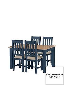 julian-bowen-richmond-140-180-cm-extending-solid-wood-and-veneer-dining-table-4-chairs-midnight-blue