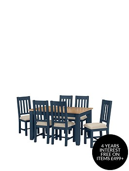 julian-bowen-richmond-140-180-cm-extending-oak-dining-table-6-chairs-midnight-blue