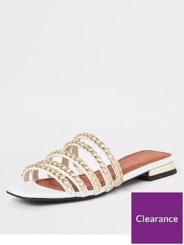 river-island-river-island-multi-strap-chain-sandals-gold