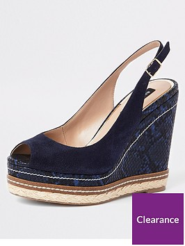 river-island-river-island-animal-print-suede-wedges-navy