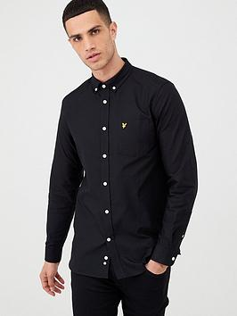 lyle-scott-oxford-shirt-grey