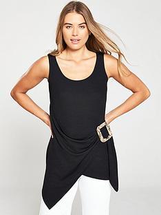 v-by-very-snake-buckle-wrap-tunic-black