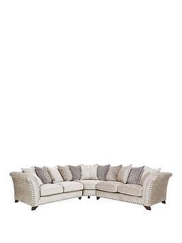 Very Caprera Fabric Scatter Back Corner Group Sofa Picture