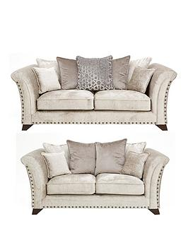 Very Caprera Fabric 3 Seater + 2 Seater Scatter Back Sofa Set (Buy And  ... Picture