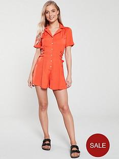 v-by-very-tie-side-playsuitnbsp--orange