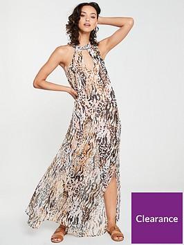 river-island-river-island-animal-print-embellished-beach-dress