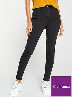v-by-very-florence-high-rise-skinny-jean-washed-black