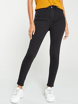 V by Very V By Very Florence High Rise Skinny Jean - Washed Black Picture