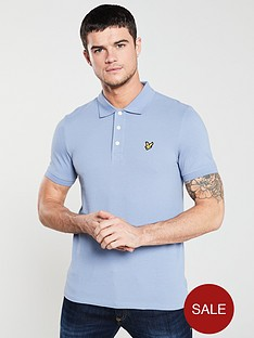 lyle-scott-short-sleeved-plain-polo-shirt-lavender-blue