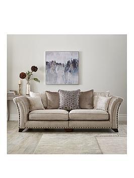 Very Caprera Fabric 4 Seater Scatter Back Sofa Picture